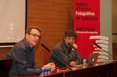 Eduard Bertran, director de l'IEFC, i José Manuel Ballester. Foto: Eric Mañas Lo Conte