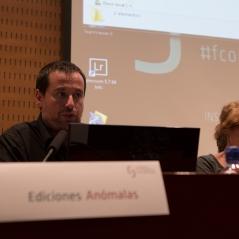 Israel Ariño d' Ediciones Anómalas . Foto: Javier Chicharro