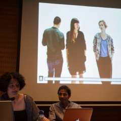 Projecció de l'obra de Mireia c. Saladrigues, amb Pol Capdevila Castells. Foto: Javier Chicharro